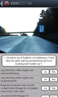 Køretest dk - teoriprøver - screenshot thumbnail