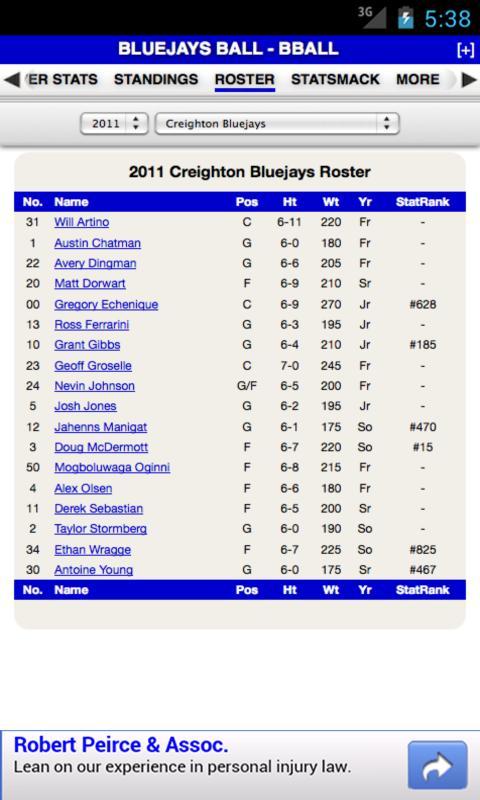 Creighton Basketball - screenshot