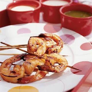 Honey-glazed Shrimp.