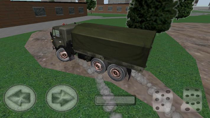 Military kamaz driving 3D - screenshot