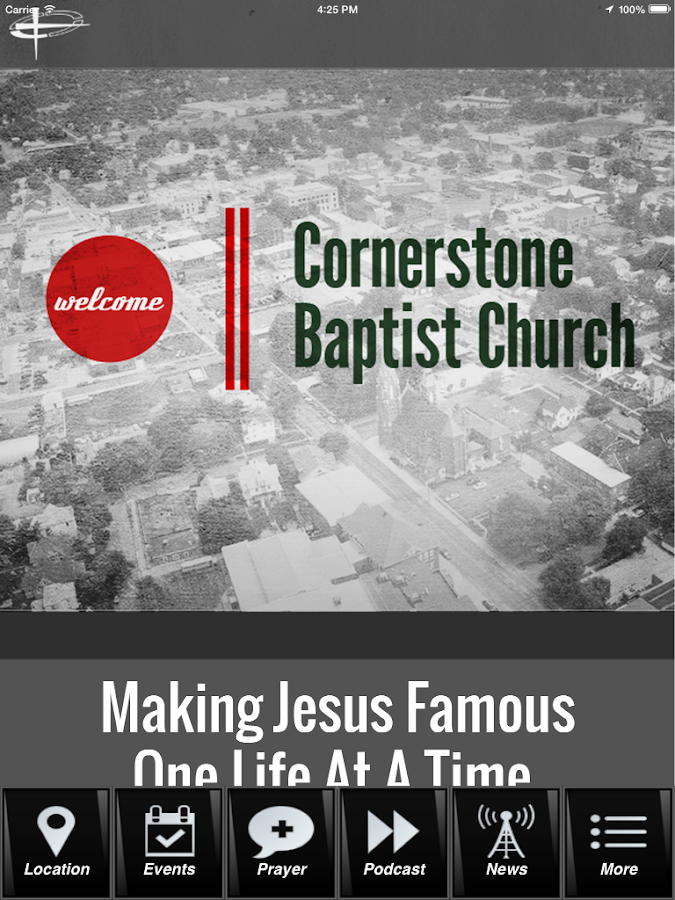 Cornerstone Baptist Church- screenshot