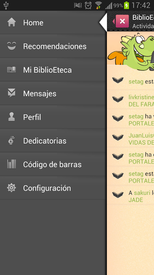 BiblioEdroid- screenshot