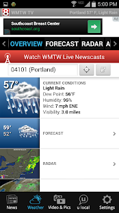 WMTW News 8 and Weather- screenshot thumbnail