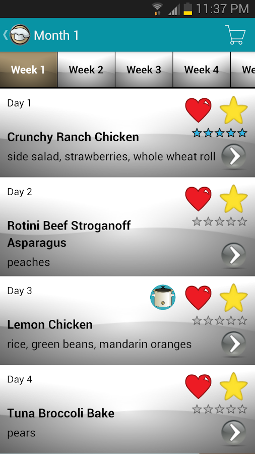 My Family Meal Planner Light- screenshot