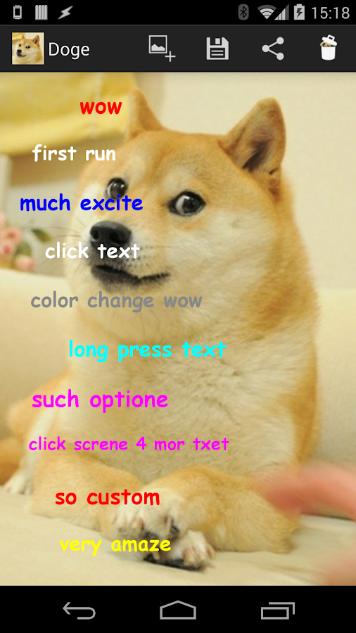 Doge Meme Creator - screenshot