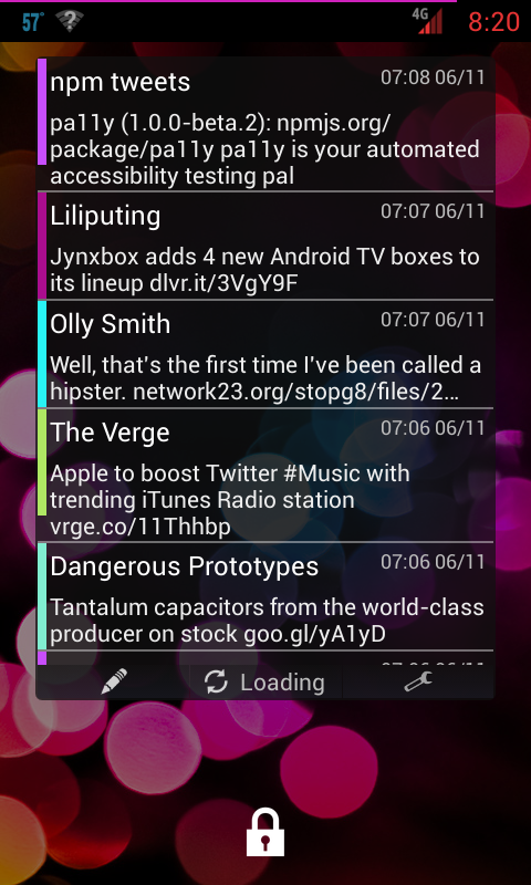 Porch social widget- screenshot