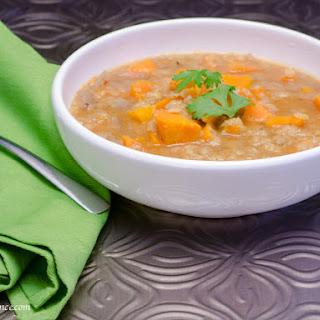Sweet Potato And Lentil Soup.