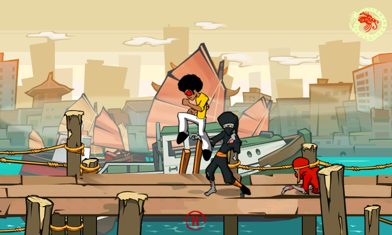 Funky Fighter vs Zombie Ninjas - screenshot