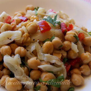 Chilled Chickpea and Seafood Salad