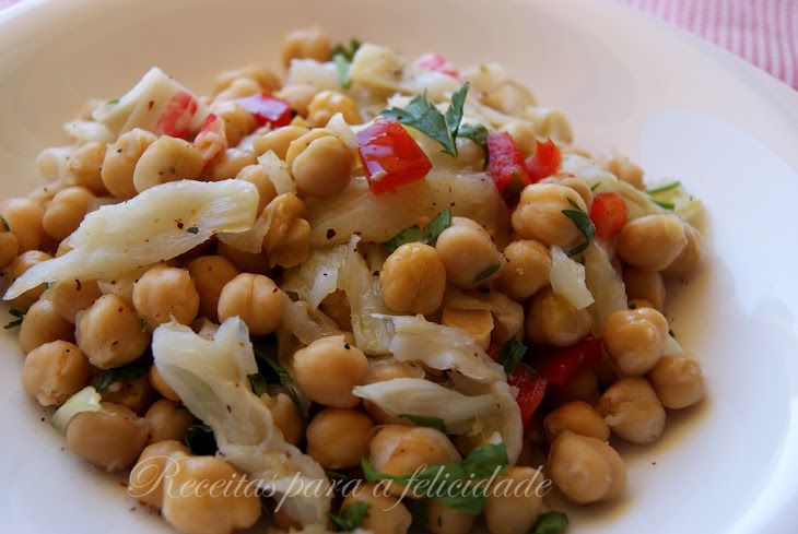 Chilled Chickpea and Seafood Salad Recipe