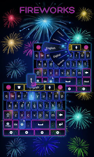 Fireworks GO Keyboard Theme
