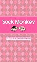 Screenshot of Sock Monkey Pink Go SMS Theme
