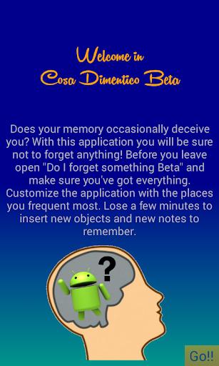 Cosa Dimentico Beta