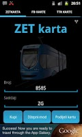 Screenshot of ZET karta