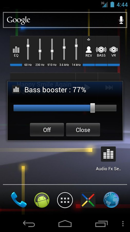 Audio Fx Widget - screenshot