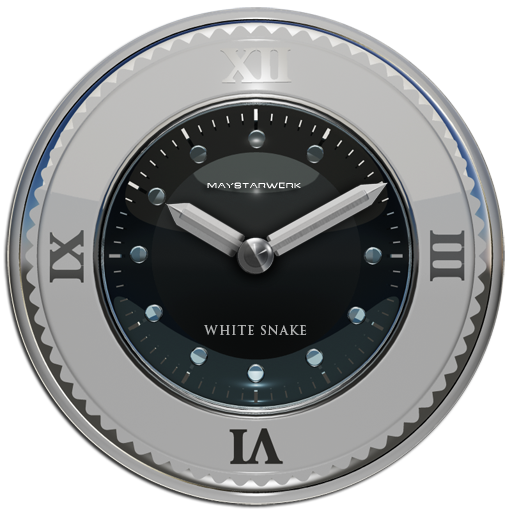 white snake clock widget