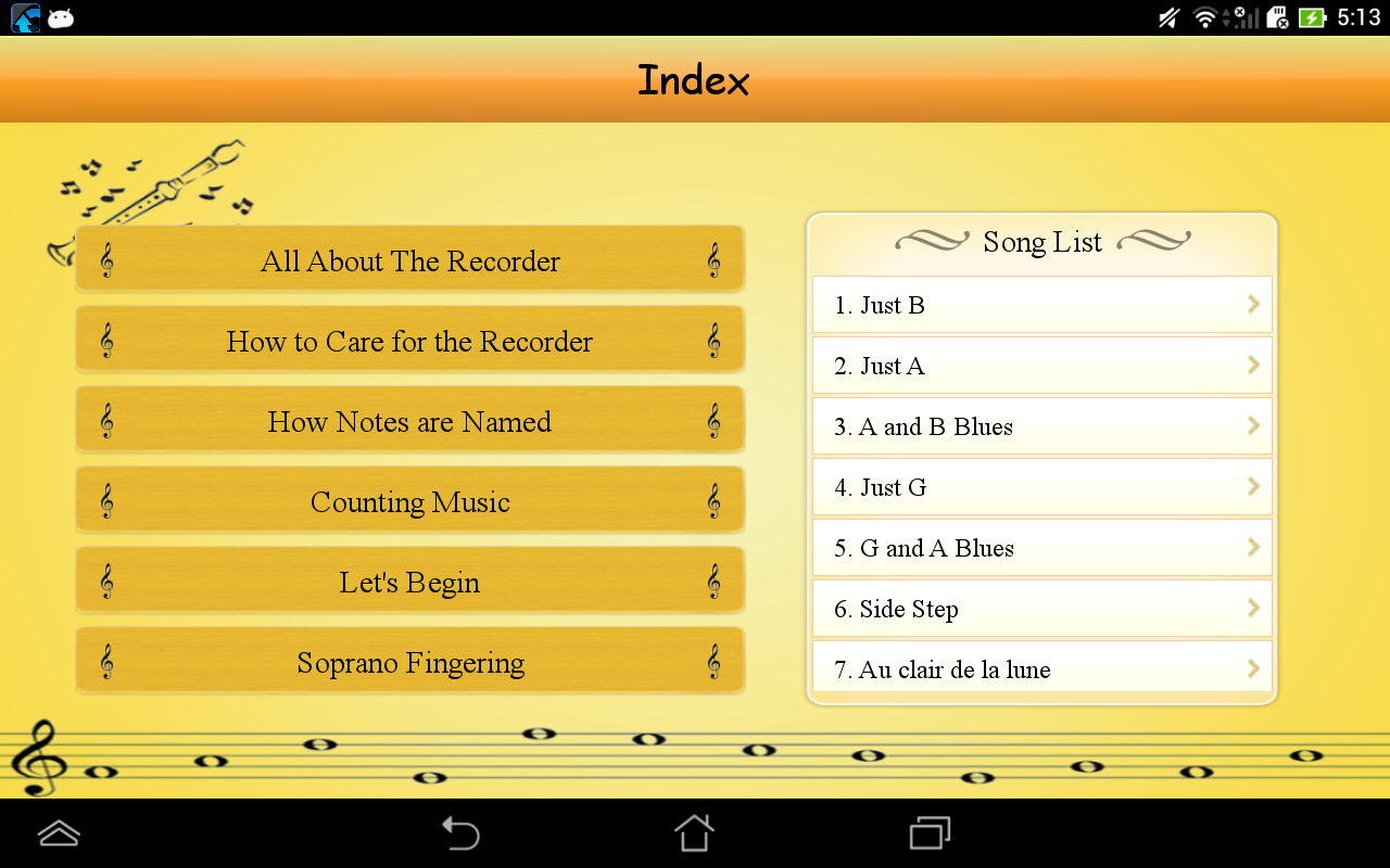 Learn and Play Recorder- screenshot