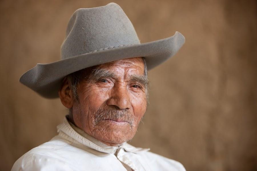 Manuel the Tsotil Sharp-shooter by Richard Duerksen - People Portraits of Men ( cowboy, mexico, tsotil, chiapas,  )
