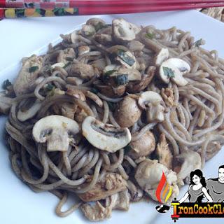 Yaki soba noodle (Buckwheat noodles) stir fry