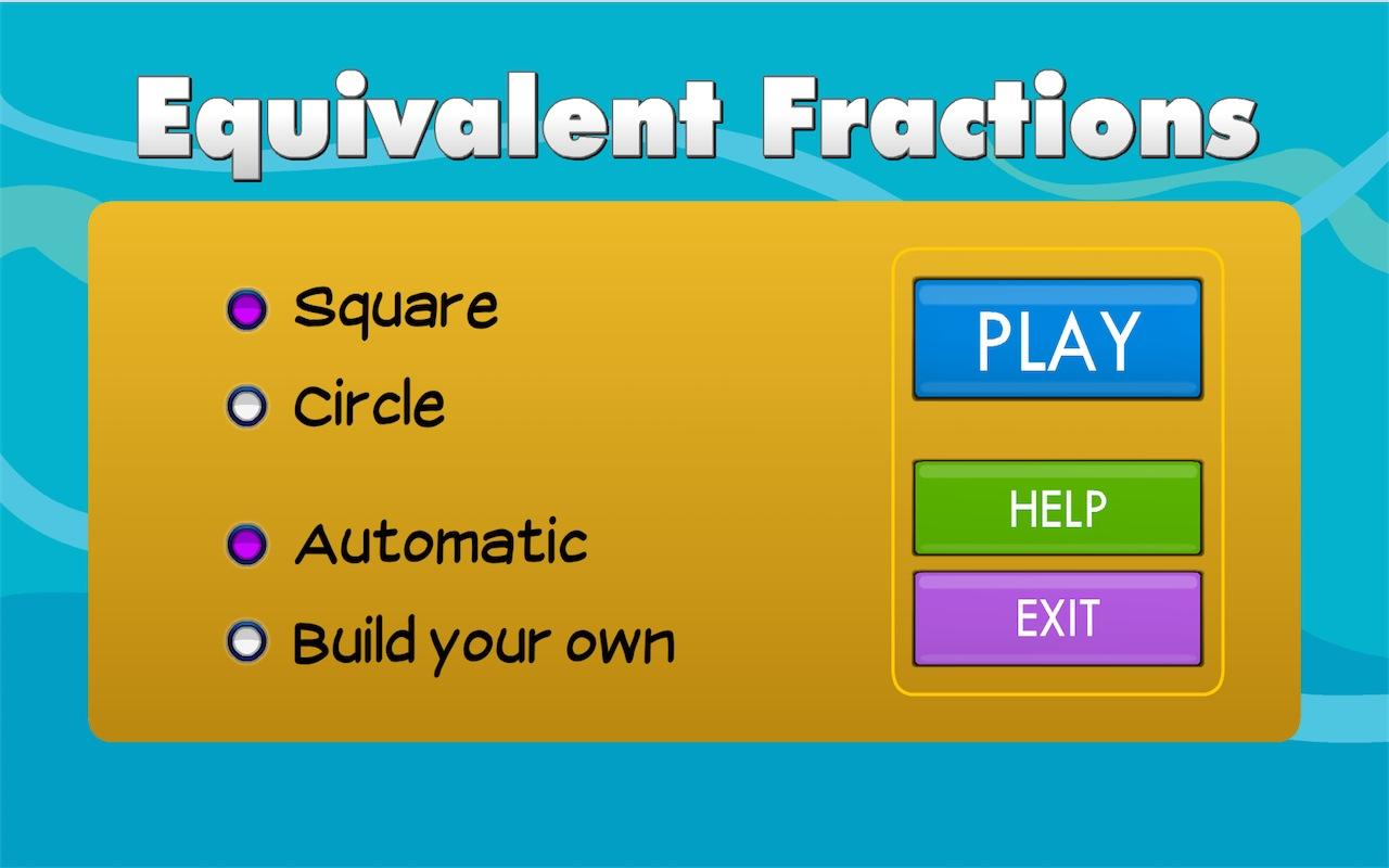 Equivalent Fractions - screenshot