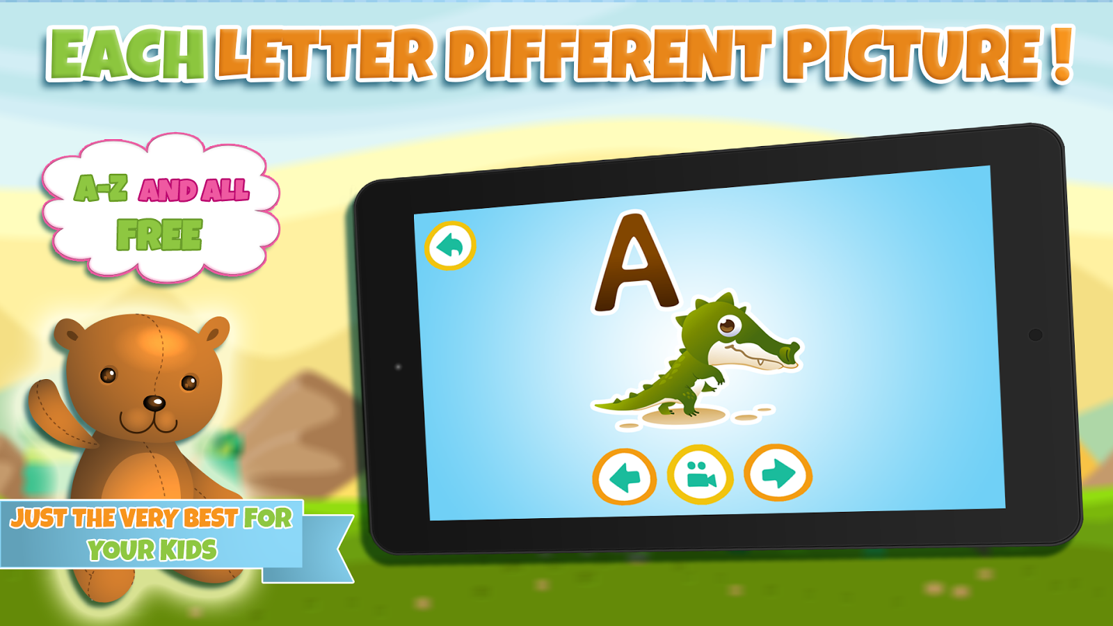 Learn alphabet & learn letters- screenshot