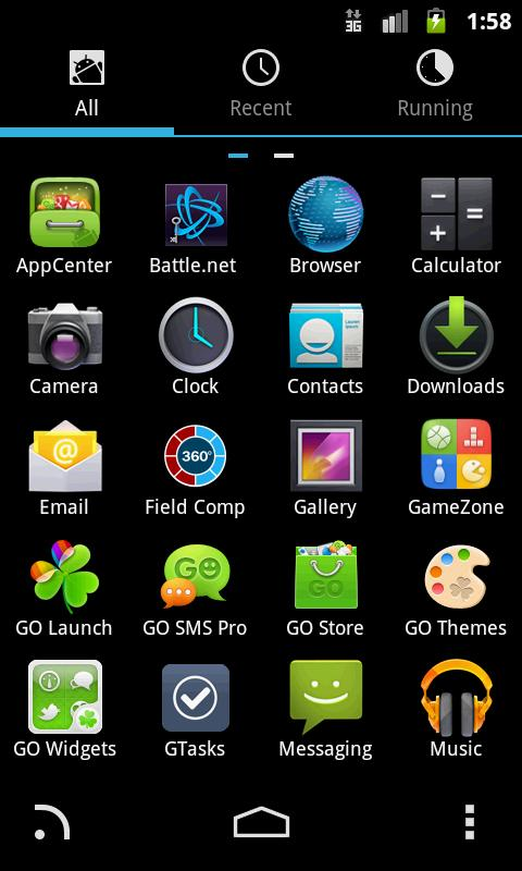 GO Launcher EX Theme ICS - screenshot
