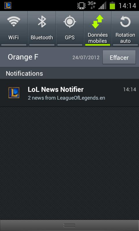 LoL News (with notifications) - screenshot