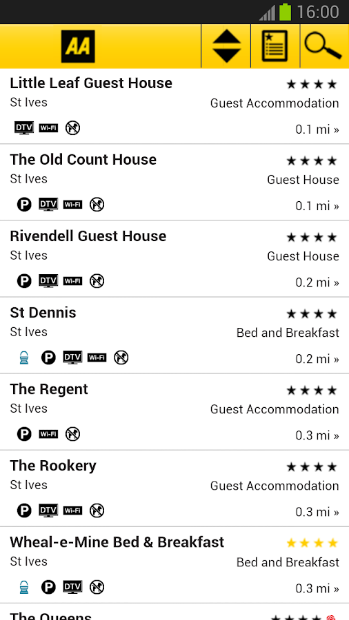 2013 AA Bed & Breakfast Guide - screenshot