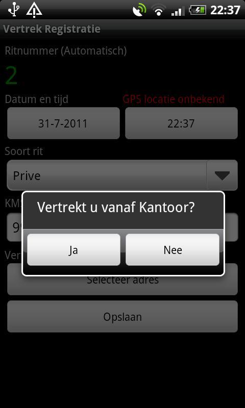 Kilometer Registratie PRO - screenshot
