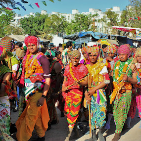 Dhuleti Utsav by Thakkar Mj - People Street & Candids ( dhuleti, colourfull, ahmedabad, utsav, gujarat, colourful dressing, india, festival, crowd, people, humanity, society,  )