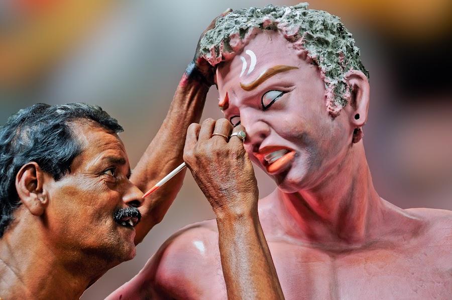 by Subrata Kool - People Professional People ( sculpture, statue, puja, kolkata, art, artwok )