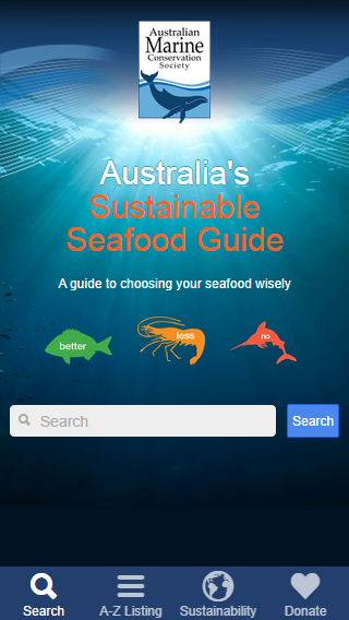 Sustainable Seafood Guide- screenshot