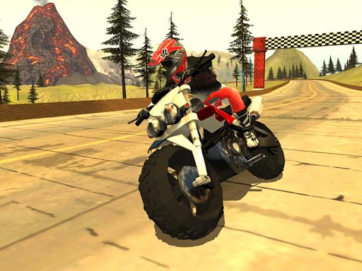 Action Bike Rider Volcano
