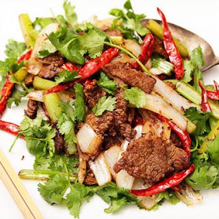 Mongolian Stir-Fried Lamb with Cumin