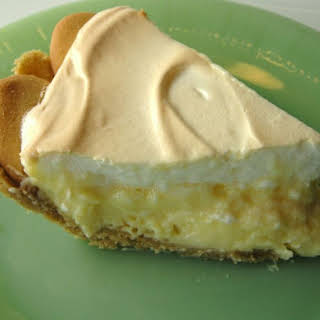 Lemon Meringue Pie With Cookie Crumb Crust.