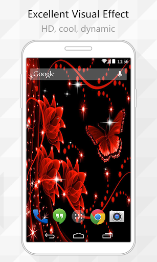 Red Butterfly Live Wallpaper