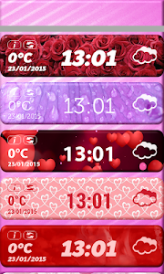 Valentine's Day Weather Widget screenshot 1