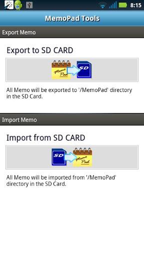 MemoPad Tools