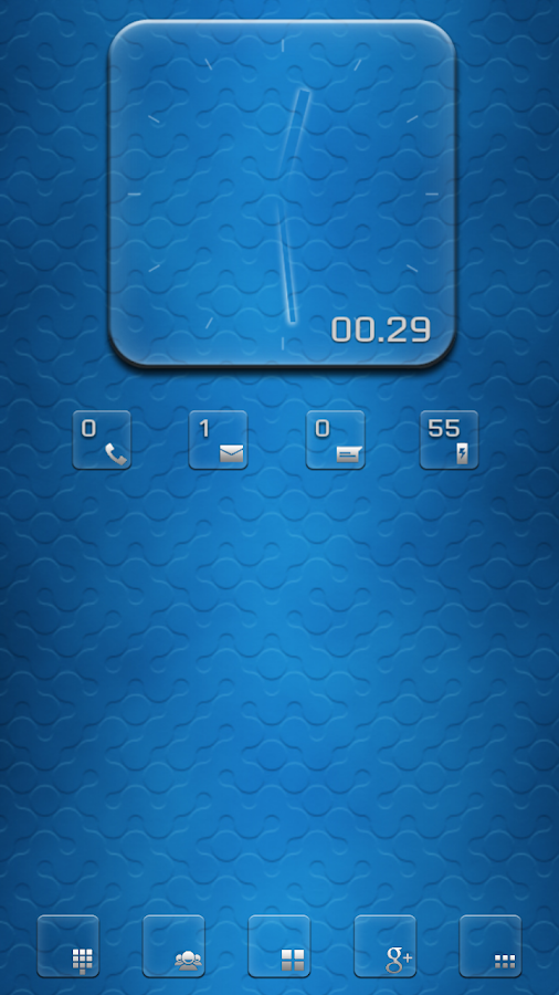 Transparent RS Clock UCCW skin- screenshot