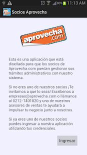 Socios Aprovecha - screenshot thumbnail