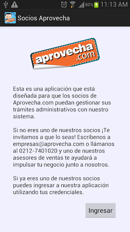 Socios Aprovecha - screenshot
