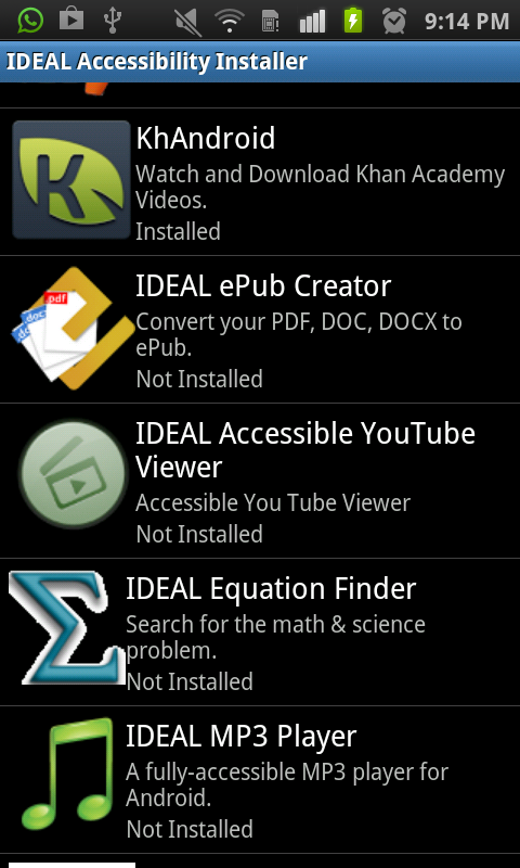 IDEAL Accessible App Installer- screenshot