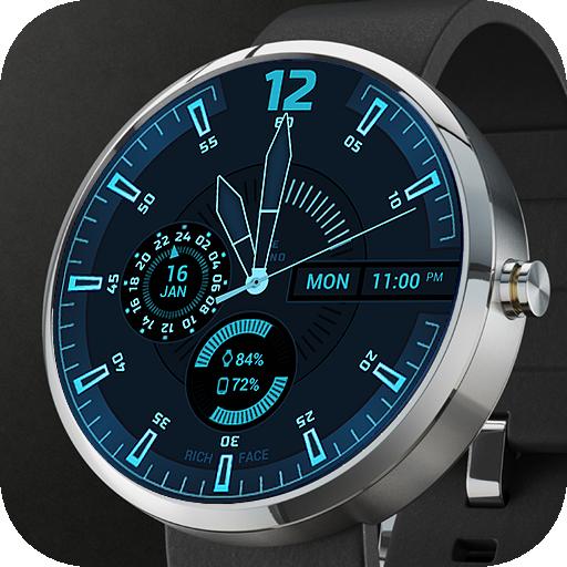 Deep Blue Watch Face
