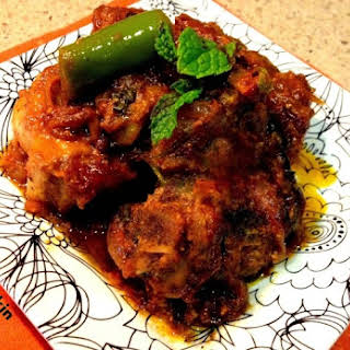 Lamb Pot Roasted in Indian Spice - Bhuna Lamb Masala.