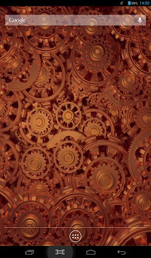 【免費個人化App】Golden Gears 2 Live Wallpaper-APP點子