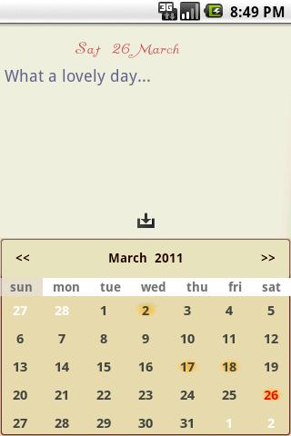 Todo-Calendar-Tracker-Notes - screenshot