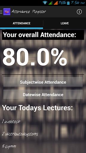 Attendance Register Students
