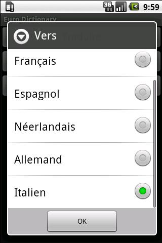 Euro Dictionary- screenshot
