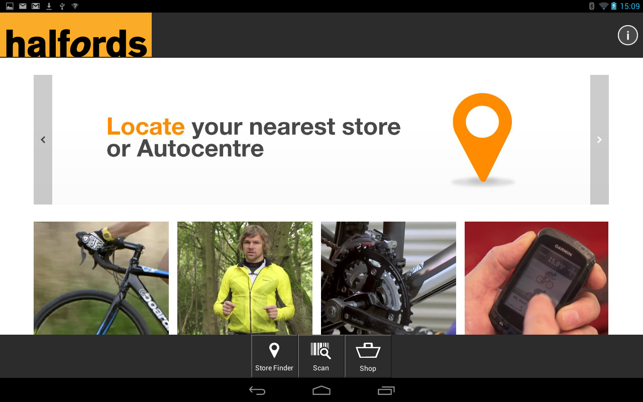Halfords- screenshot