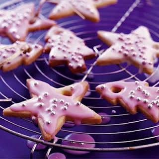 Sparkling vanilla Christmas cookies.